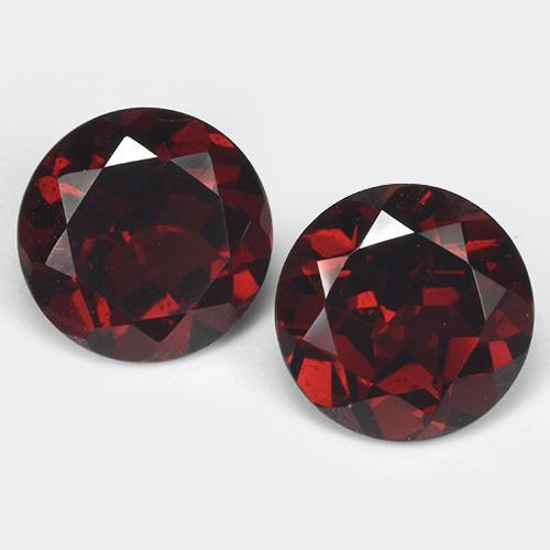 Deep Blood Red Pyrope Garnet Gem - 1.7ct Round Facet (ID: 513494)