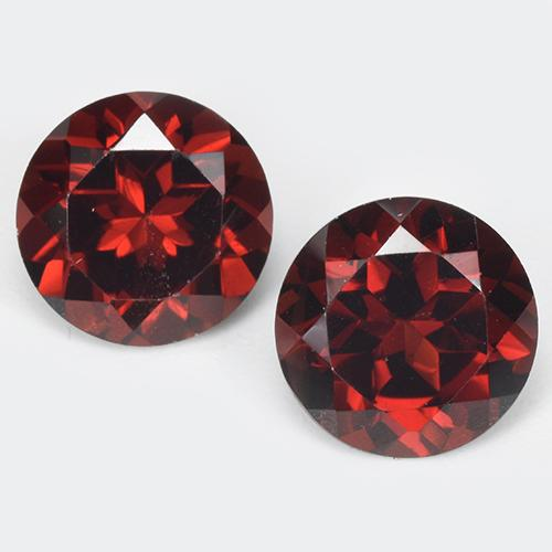 Deep Blood Red Pyrope Garnet Gem - 1.7ct Round Facet (ID: 513497)