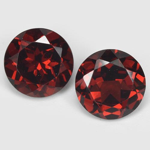 Red Pyrope Garnet Gem - 1.7ct Round Facet (ID: 513500)