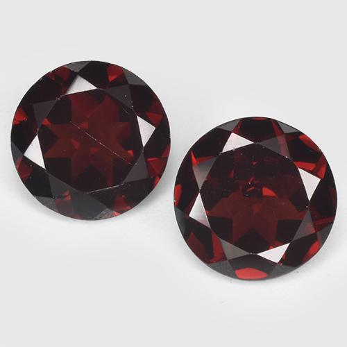 Dark Red Pyrope Garnet Gem - 1.4ct Round Facet (ID: 513501)