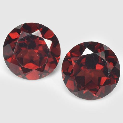 Dark Red Pyrope Garnet Gem - 1.8ct Round Facet (ID: 513502)