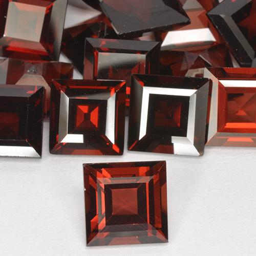2.91 ct Square Step-Cut Merlot Red Pyrope Garnet Gemstone 8.09 mm x 8.1 mm (Product ID: 514067)