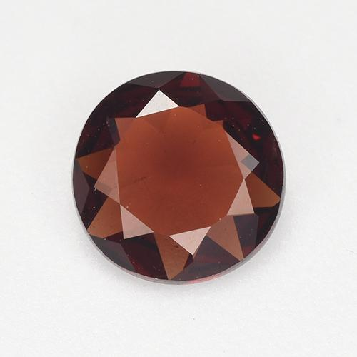 Red Pyrope Garnet Gem - 0.8ct Round Facet (ID: 514574)