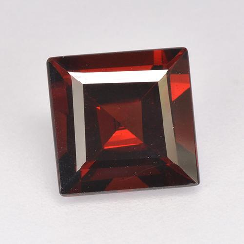 2.9ct Square Step-Cut Deep Red Pyrope Garnet Gem (ID: 515004)