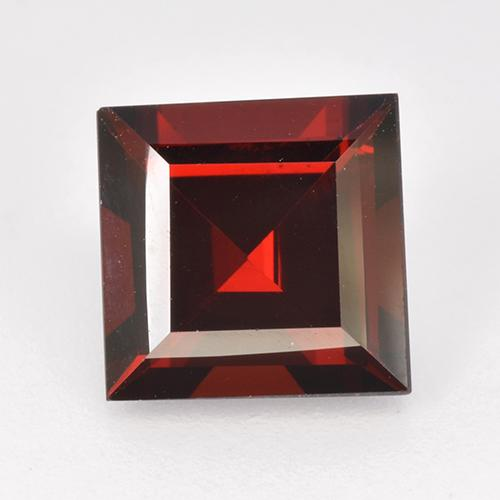 3ct Square Step-Cut Deep Red Pyrope Garnet Gem (ID: 515007)