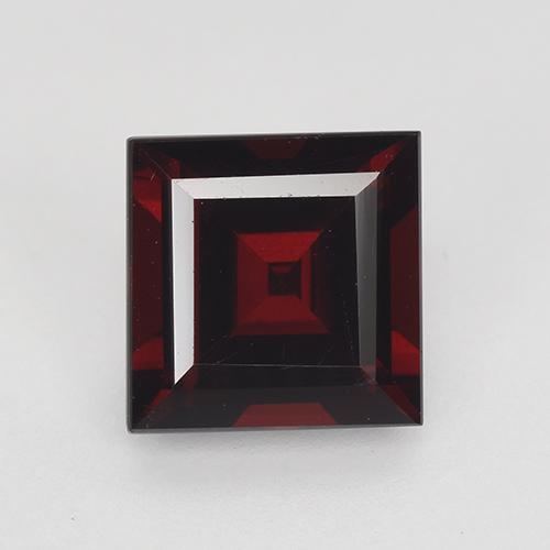 Blackish Red Granate Piropo Gema - 2.6ct Corte cuadrado step (ID: 515549)