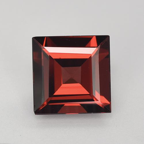 2.5ct Square Step-Cut Dark Red Pyrope Garnet Gem (ID: 515550)
