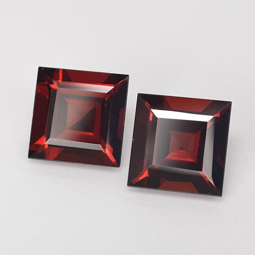 2.8ct Square Step-Cut Deep Red Pyrope Garnet Gem (ID: 518834)