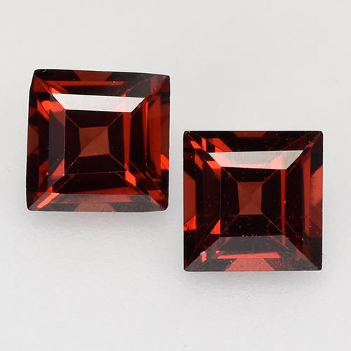 Deep Blood Red Pyrope Garnet Gem - 0.4ct Square Facet (ID: 526864)