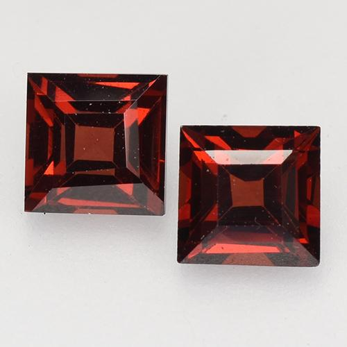 Deep Red Pyrope Garnet Gem - 0.5ct Square Facet (ID: 526865)