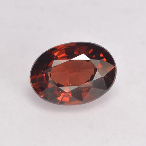 1.1ct Oval facettiert tiefrot Pyrop-Granat Edelstein (ID: 529097)