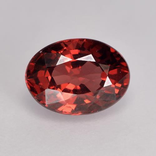 1.1ct Oval facettiert tiefrot Pyrop-Granat Edelstein (ID: 529536)