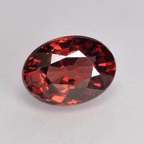 1.1ct Oval facettiert tiefrot Pyrop-Granat Edelstein (ID: 529539)