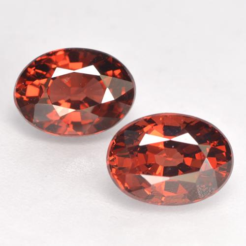 Red Pyrope Garnet Gem - 1.3ct Oval Facet (ID: 530069)