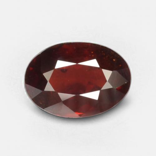 Deep Red Pyrope Garnet Gem - 1.3ct Oval Facet (ID: 537915)