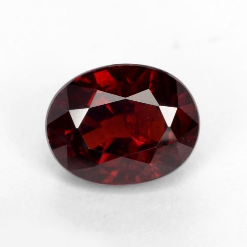 tiefrot Pyrop-Granat Edelstein - 1.9ct Oval facettiert (ID: 538047)