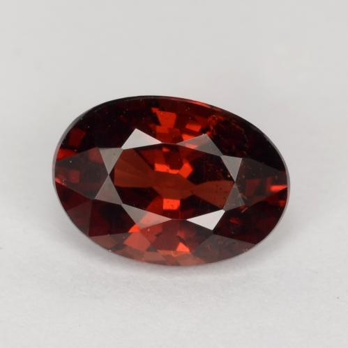 0.9ct Oval facettiert tiefrot Pyrop-Granat Edelstein (ID: 540668)