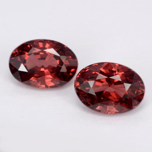 Deep Red Pyrope Garnet Gem - 1.2ct Oval Facet (ID: 543540)