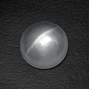 White Quartz Cat's Eye Gem - 8.3ct Round Cabochon (ID: 360617)