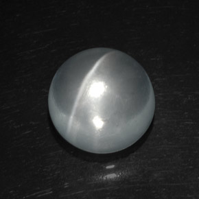 White Quartz Cat's Eye Gem - 8.9ct Round Cabochon (ID: 369507)