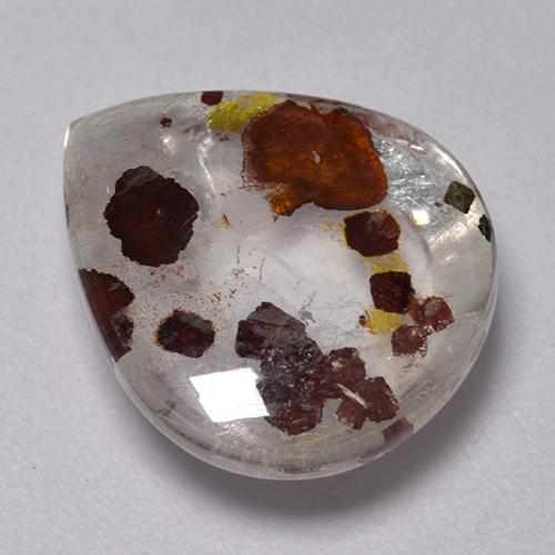 Multicolor Quartz With Marcasite Gem - 6.7ct Pear Cabochon (ID: 521346)