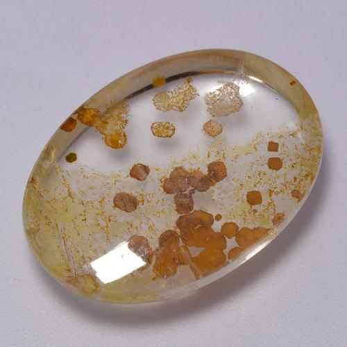 Multicolor Quartz With Marcasite Gem - 20.7ct Oval Cabochon (ID: 522182)