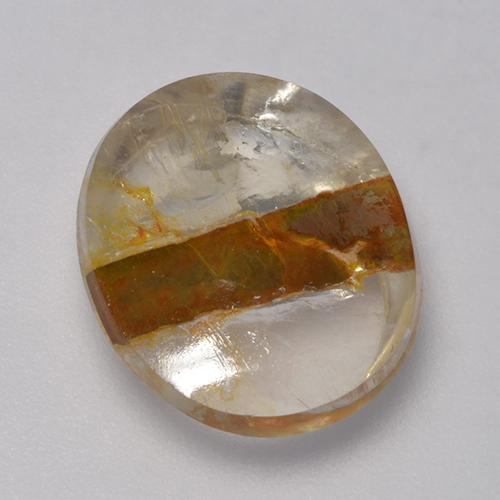 Mehrfarbig Quartz With Marcasite Edelstein - 8.3ct Oval Cabochon (ID: 523447)