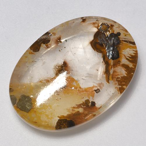 Multicolor Quartz With Marcasite Gem - 21ct Oval Cabochon (ID: 524008)