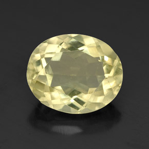 3.5ct Oval Facet Pale Yellow Quartz Gem (ID: 320302)