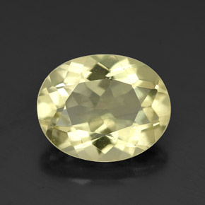 3.4ct Oval Facet Lemon Yellow Quartz Gem (ID: 320303)