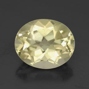 3.7ct Oval Facet Medium Yellow Quartz Gem (ID: 320305)