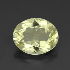 3.4ct Oval Facet Medium-Light Yellow Quartz Gem (ID: 320308)