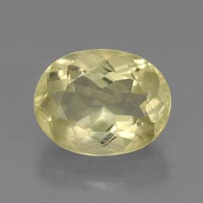 3.7ct Oval Facet Pale Yellow Quartz Gem (ID: 320902)