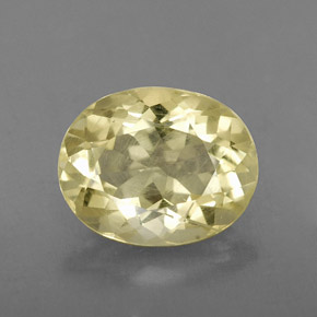 3.1ct Oval Facet Light Yellow Quartz Gem (ID: 321078)