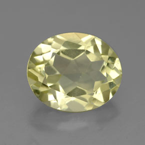 3.2ct Oval Facet Light Yellow Quartz Gem (ID: 327589)