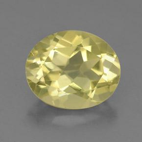 3.5ct Oval Facet Very Pale Yellow Quartz Gem (ID: 332655)