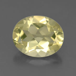 3.2ct Oval Facet Light Yellow Quartz Gem (ID: 332660)