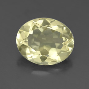 3.2ct Oval Facet Medium Yellow Quartz Gem (ID: 332664)