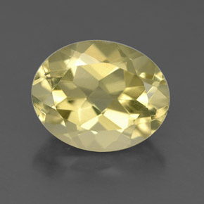 3.5ct Oval Facet Pale Yellow Quartz Gem (ID: 332667)
