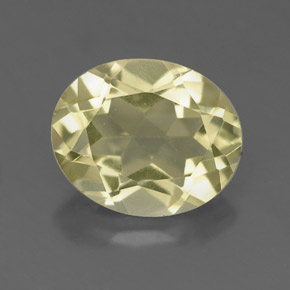 3.3ct Oval Facet Pale Yellow Quartz Gem (ID: 332669)