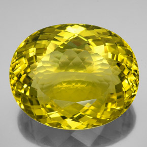 Lemon Quartz Gem - 122.9ct Oval Portuguese-Cut (ID: 338604)