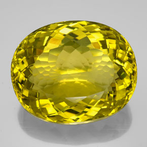 159.05 ct Oval Facet Lemon Quartz Gemstone 38.89 mm x 32 mm (Product ID: 339143)