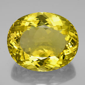 152.35 ct Oval Portuguese-Cut Lemon Quartz Gemstone 38.02 mm x 31.5 mm (Product ID: 339144)