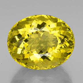 Lemon Quartz Gem - 94.1ct Oval Portuguese-Cut (ID: 339147)