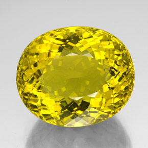 152.10 ct Oval Portuguese-Cut Lemon Quartz Gemstone 35.73 mm x 30.2 mm (Product ID: 341771)