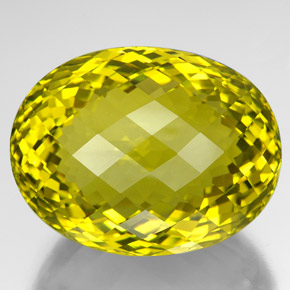 thumb image of 210.6ct Oval Checkerboard Lemon Quartz (ID: 341780)