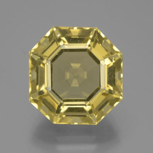 Light Golden-Yellow Cuarzo Gema - 13.8ct Corte Asscher (ID: 394645)