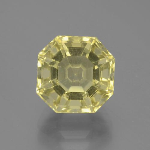 Pale Yellow Quartz Gem - 3.9ct Asscher Cut (ID: 394657)