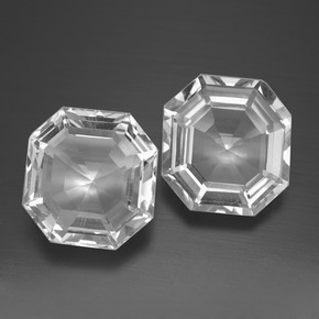 Clear White Quartz Gem - 7.6ct Asscher Cut (ID: 394662)