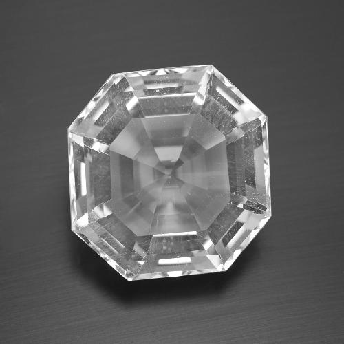 Clear White Quartz Gem - 13.6ct Asscher Cut (ID: 394682)